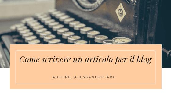 come scrivere un articolo per il blog cover