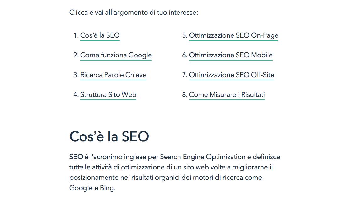 articolo SEO su Google